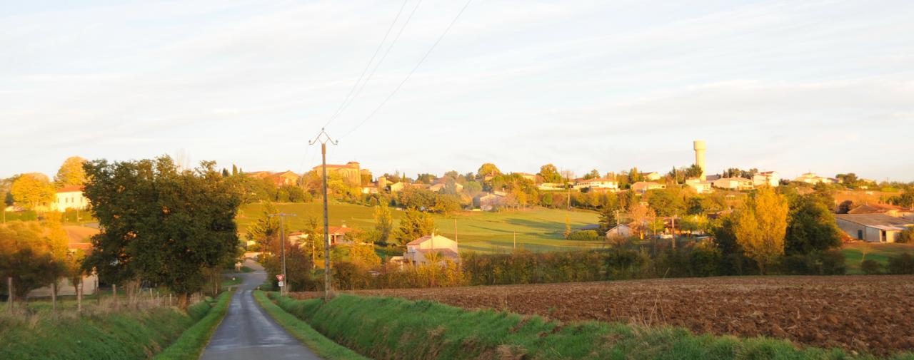 vue de sous le village Aussac